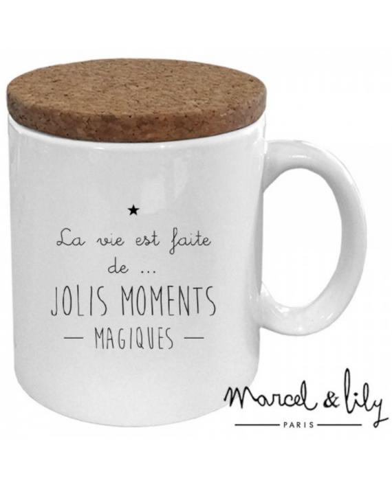 "Mug ""la vie est faite de jolis moments magiques"""