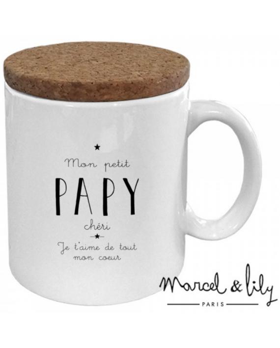 """Mug """"Mon petit papy chéri je t'aime de tout mon coeur"""""""