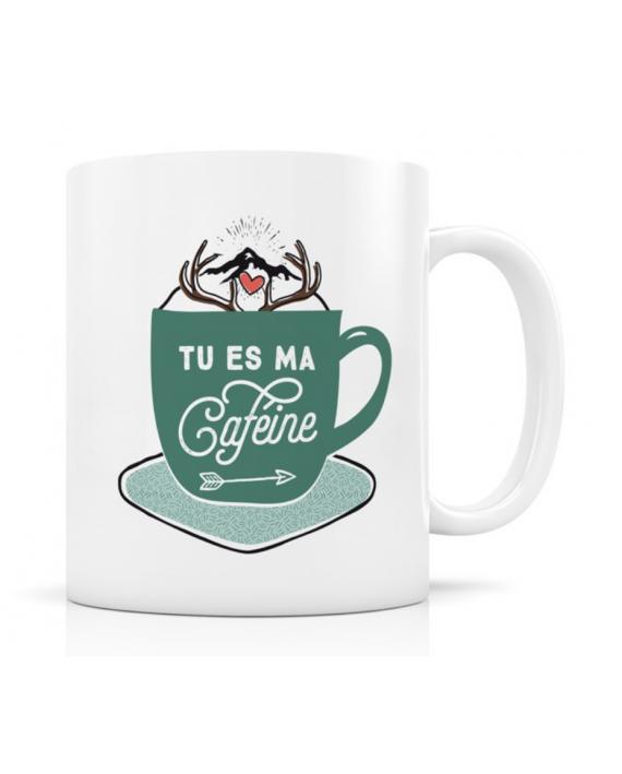 """Mug """"Tu es ma caféine"""""""