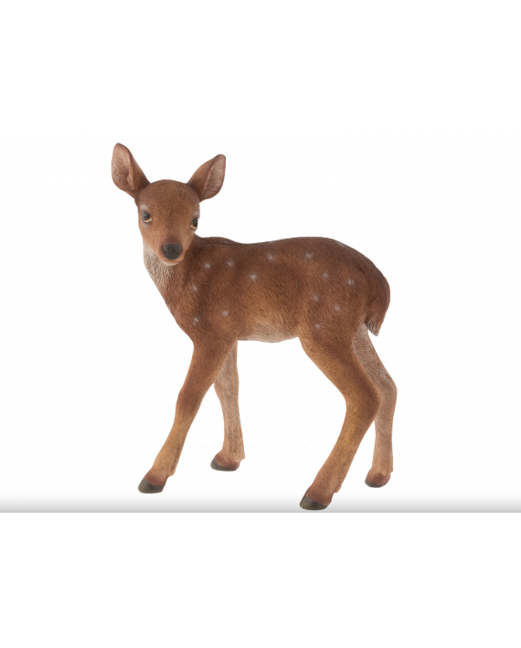Cerf résine marron grand