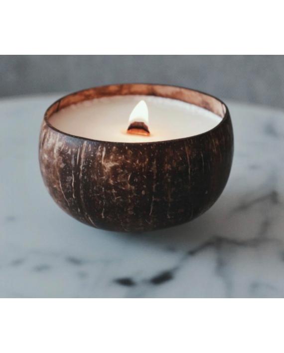 Bougie noix de coco
